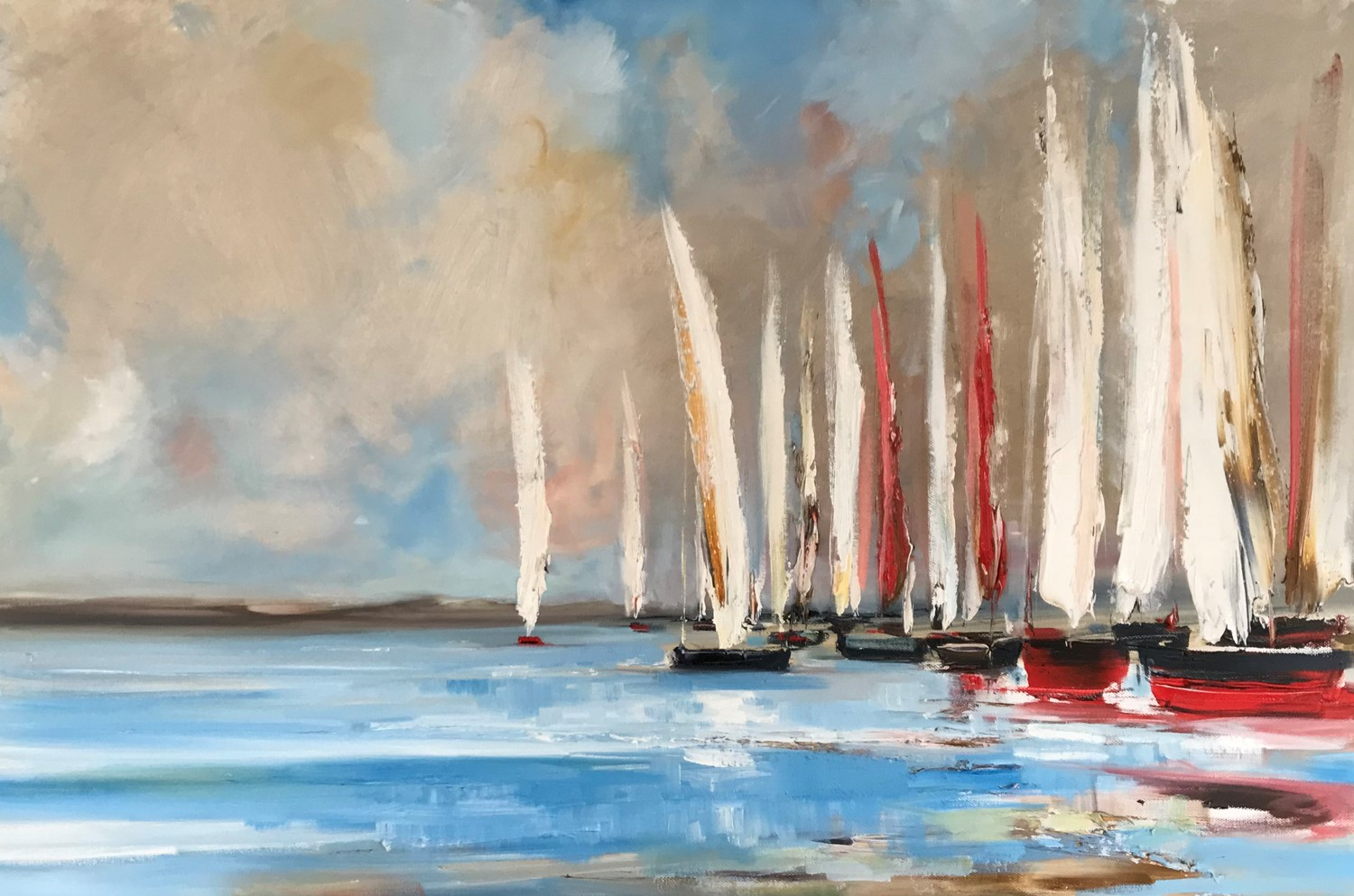 'Busy with sails ' by artist Rosanne Barr