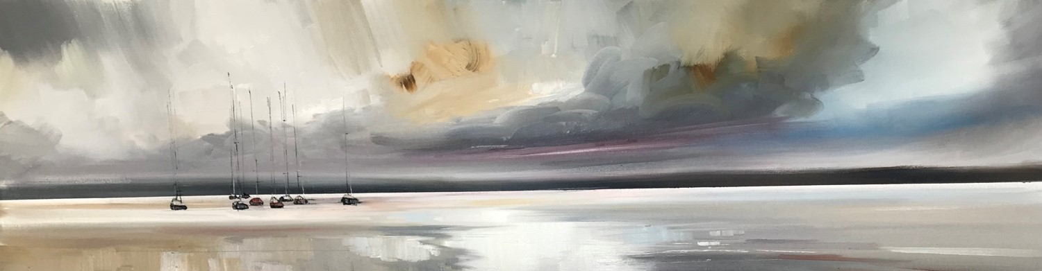 'Still and tranquil estuary' by artist Rosanne Barr