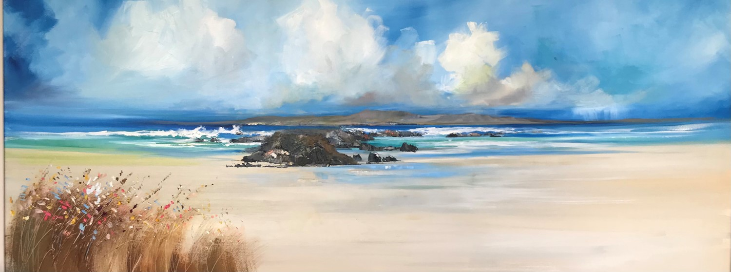 'Rocks and florals ' by artist Rosanne Barr