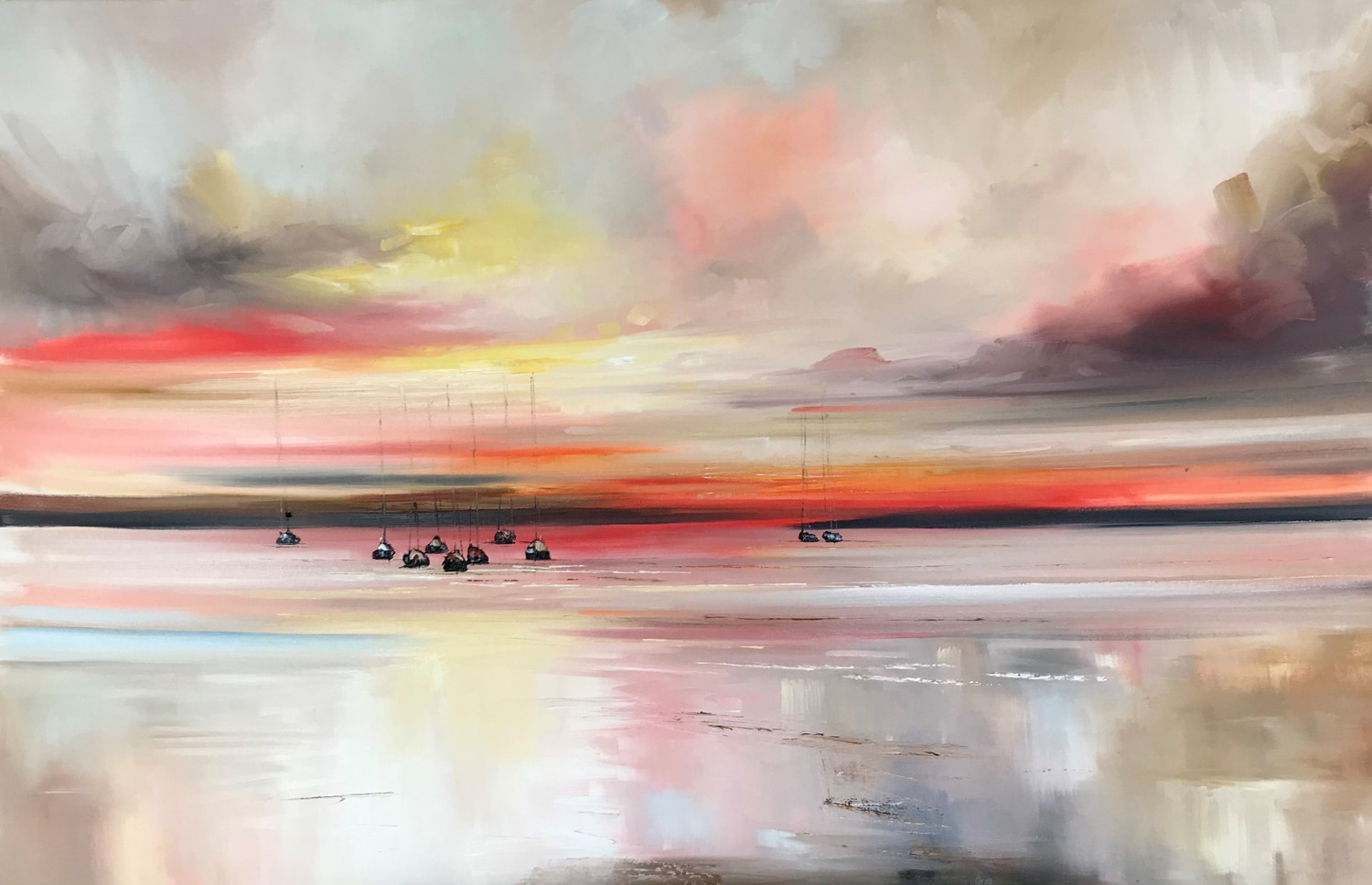 'Colours of sunset echoed across the water ' by artist Rosanne Barr
