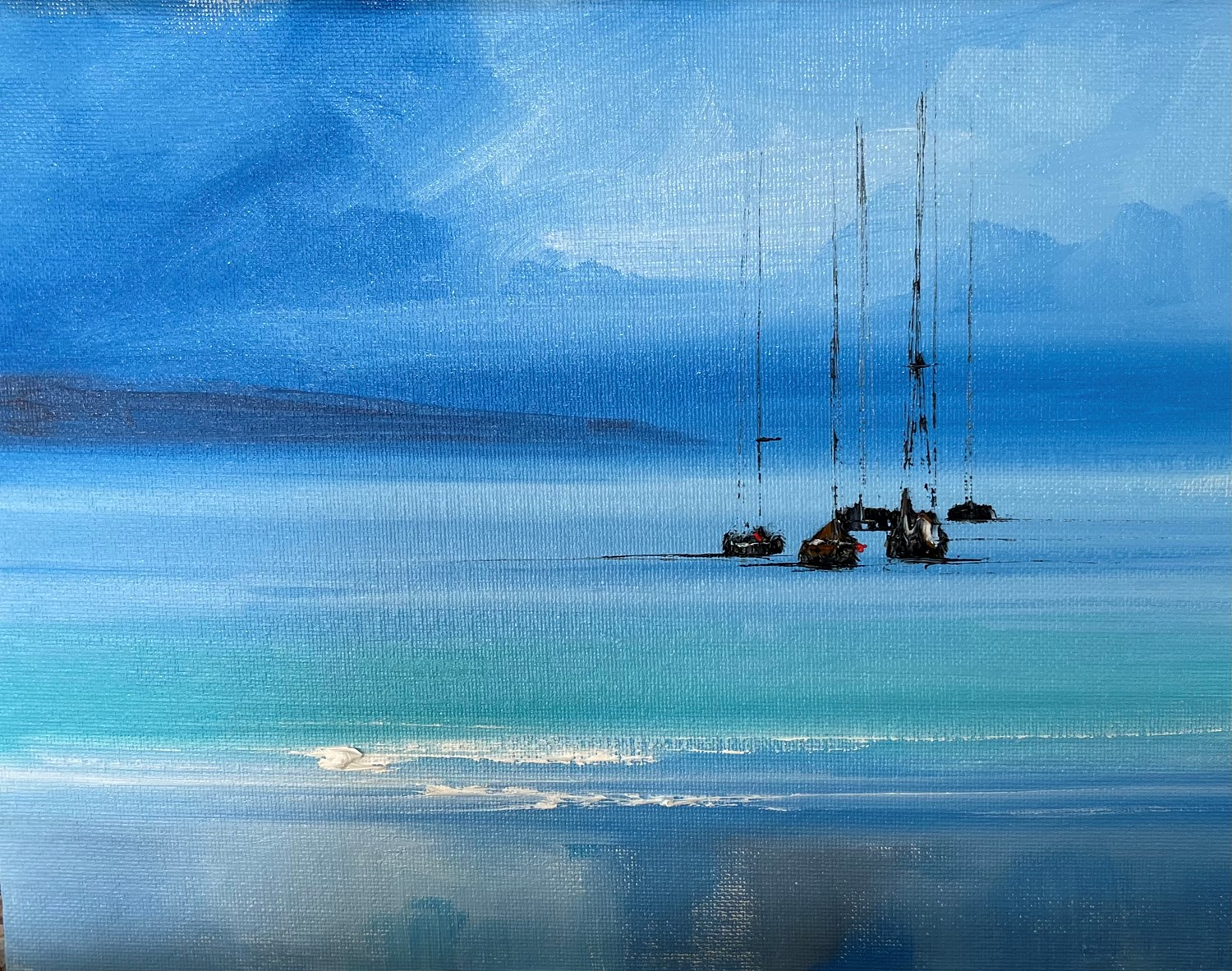 'Turquoise and Blue ' by artist Rosanne Barr