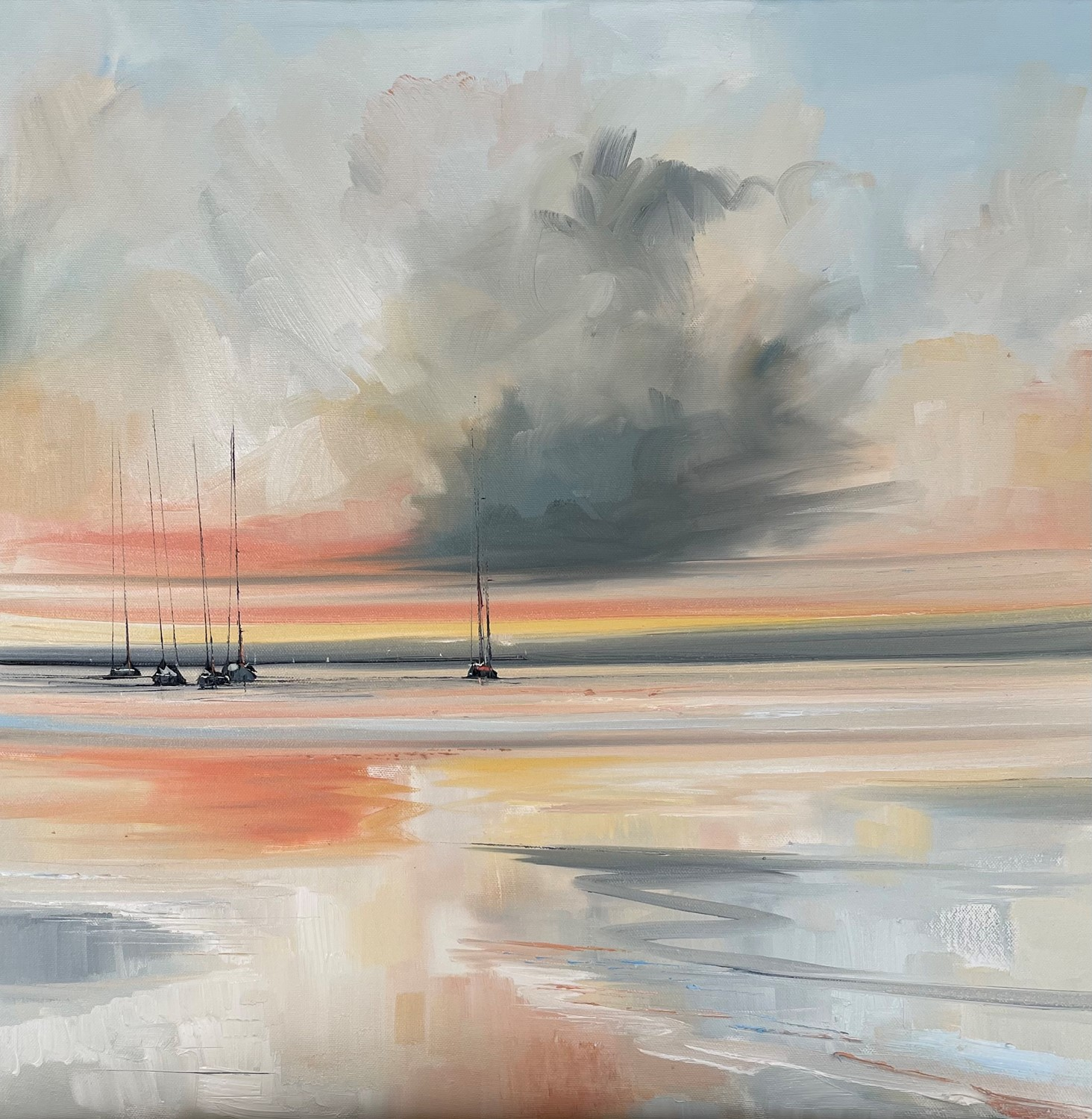 'Cloud and sunset ' by artist Rosanne Barr