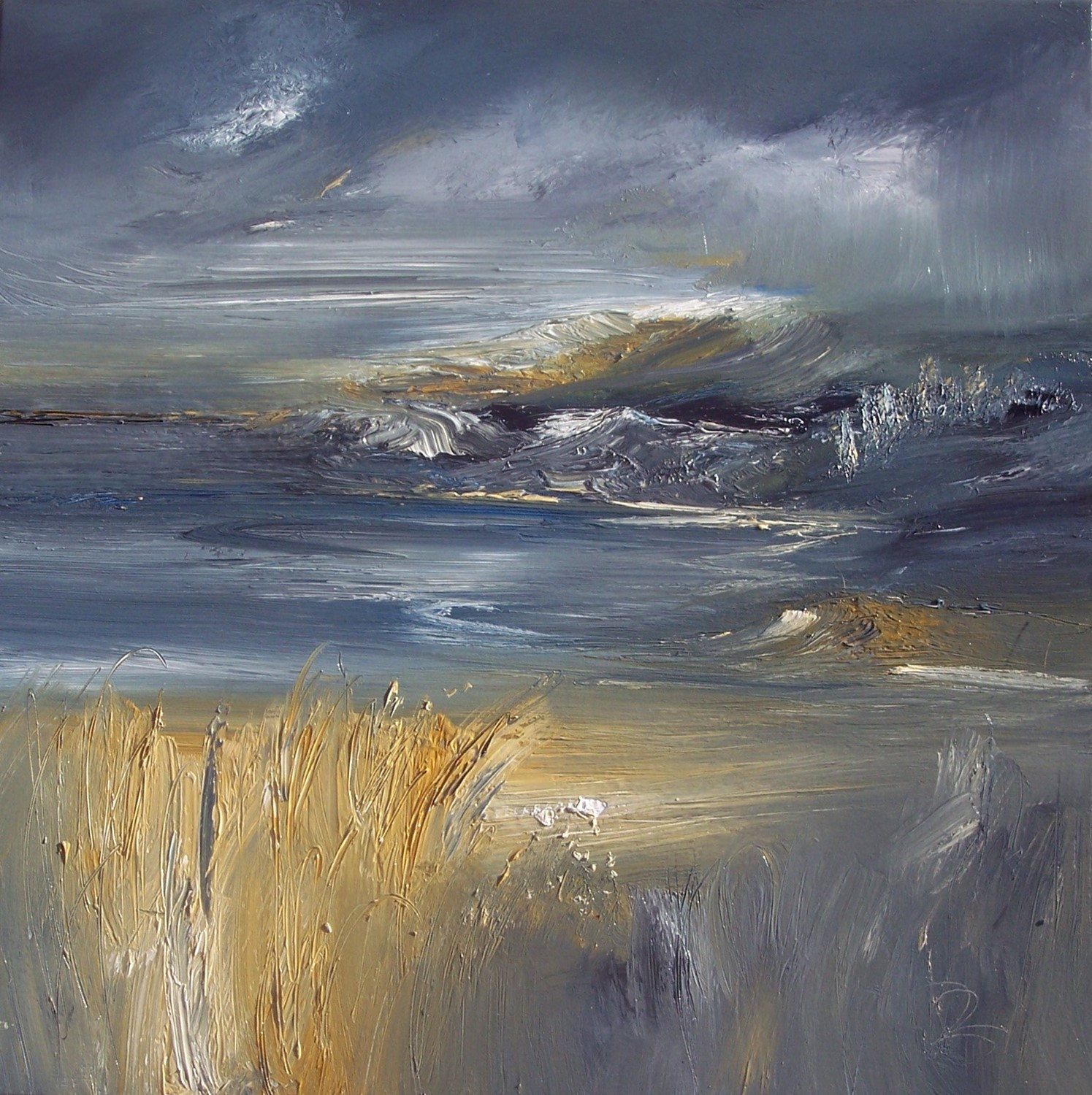 'A storm Looming Oil' by artist Rosanne Barr