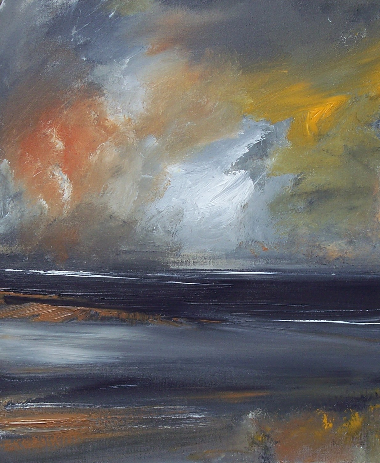 'Brooding storms' by artist Rosanne Barr