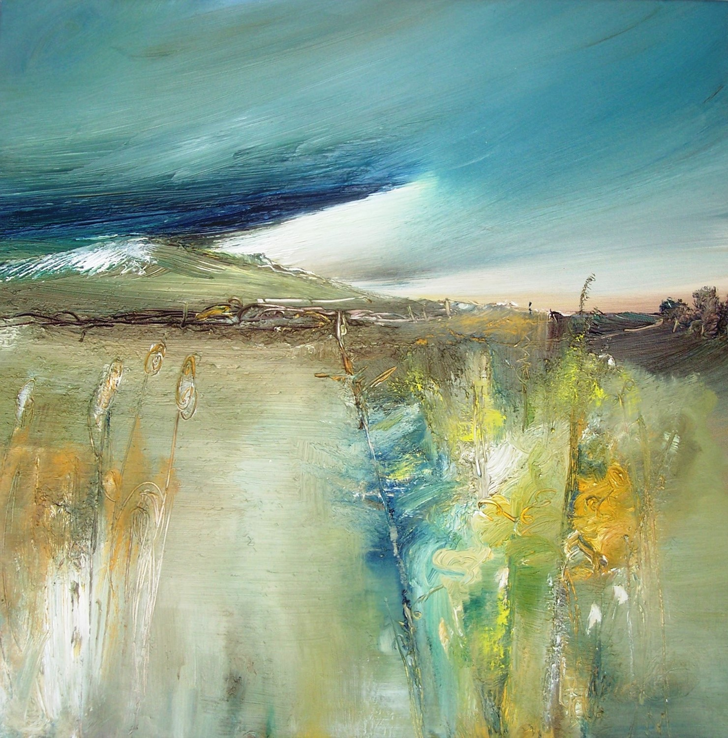 'In shadow of the glade 93x 93 cm Oil' by artist Rosanne Barr