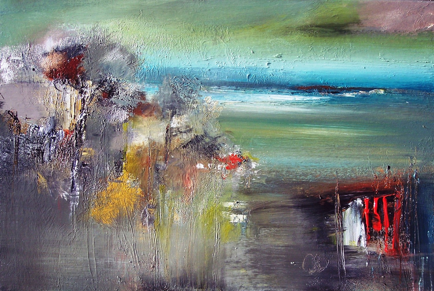 'Into the Clearing Acrylic' by artist Rosanne Barr