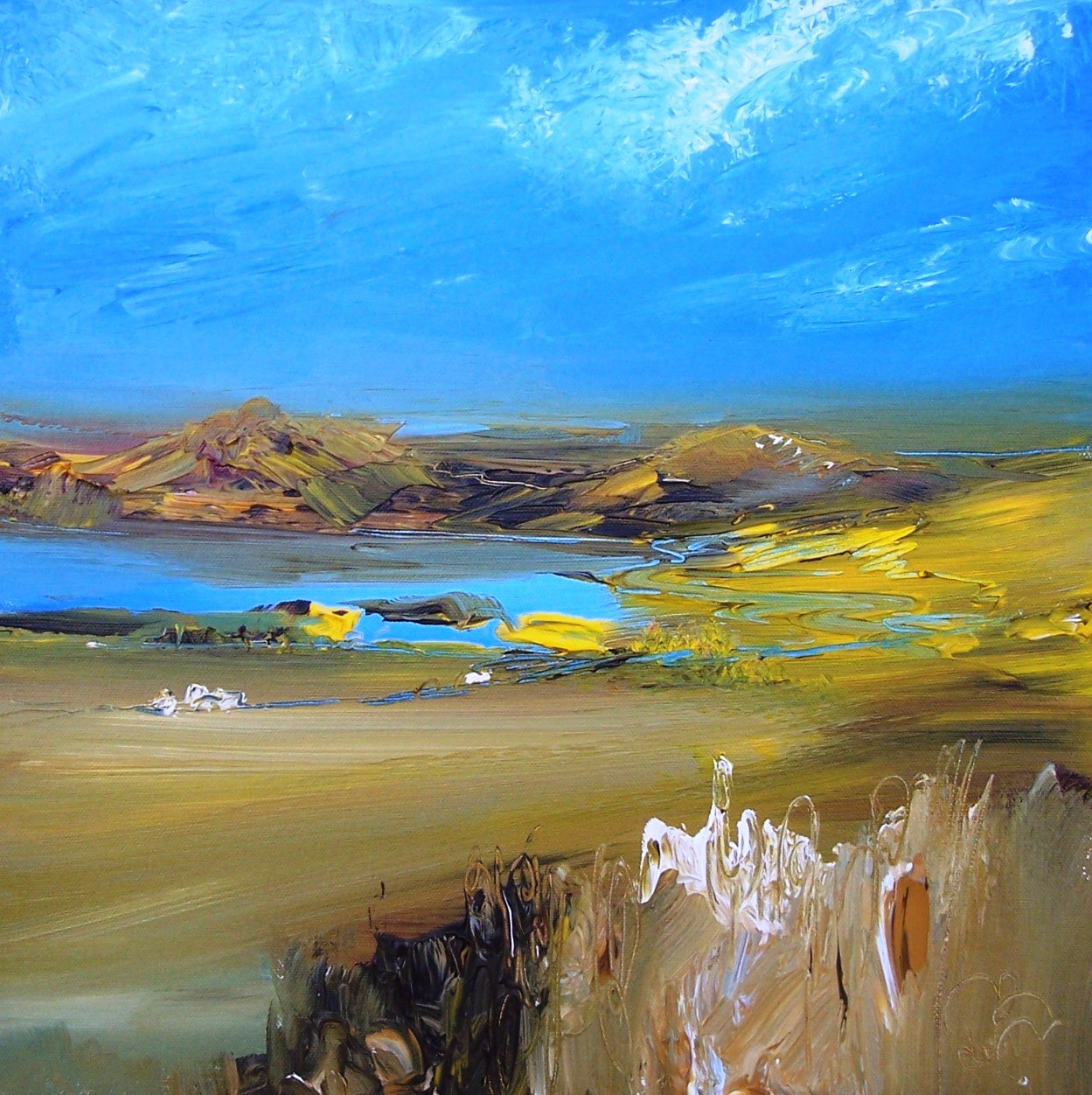 'Looking towards the Loch' by artist Rosanne Barr