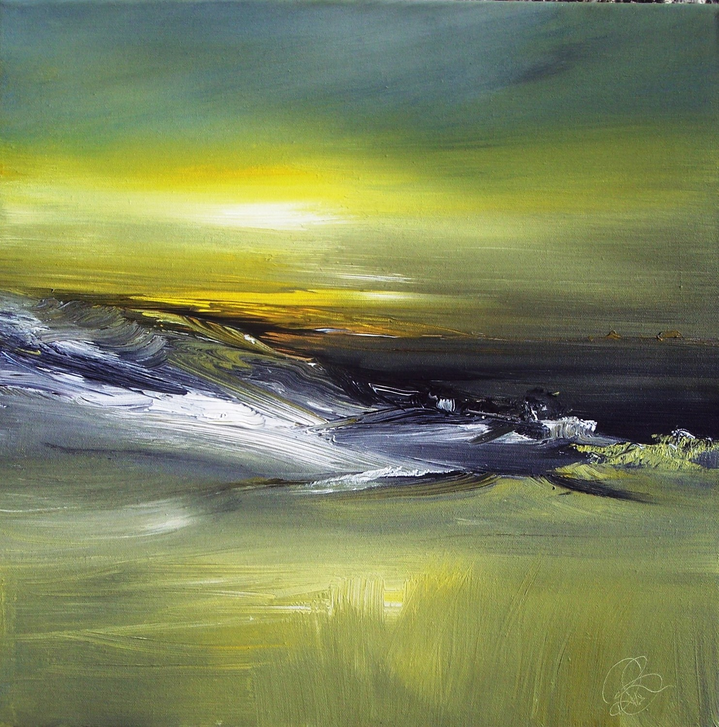 'Morning Light Acrylic' by artist Rosanne Barr