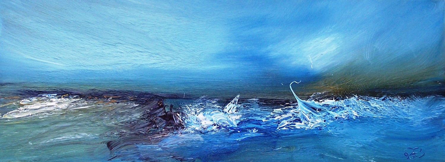 'Wave watching' by artist Rosanne Barr