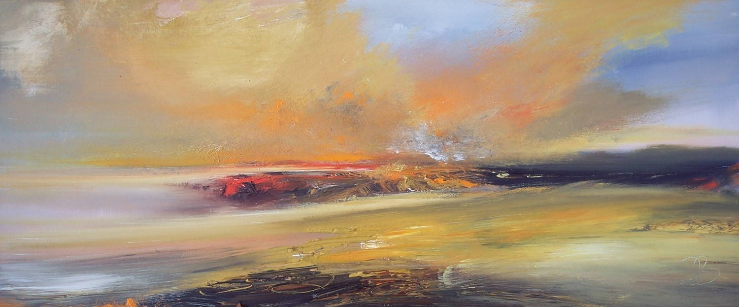 'Burning Skies' by artist Rosanne Barr
