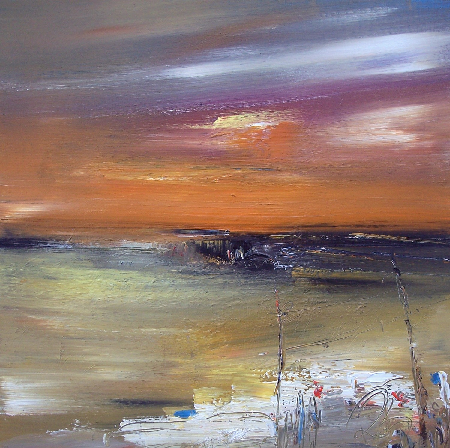 'Bay at Dusk' by artist Rosanne Barr