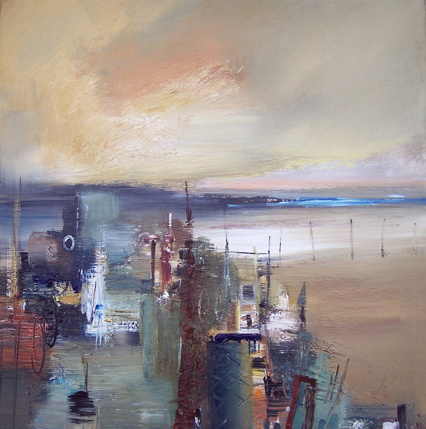 'Waiting at the Quay' by artist Rosanne Barr
