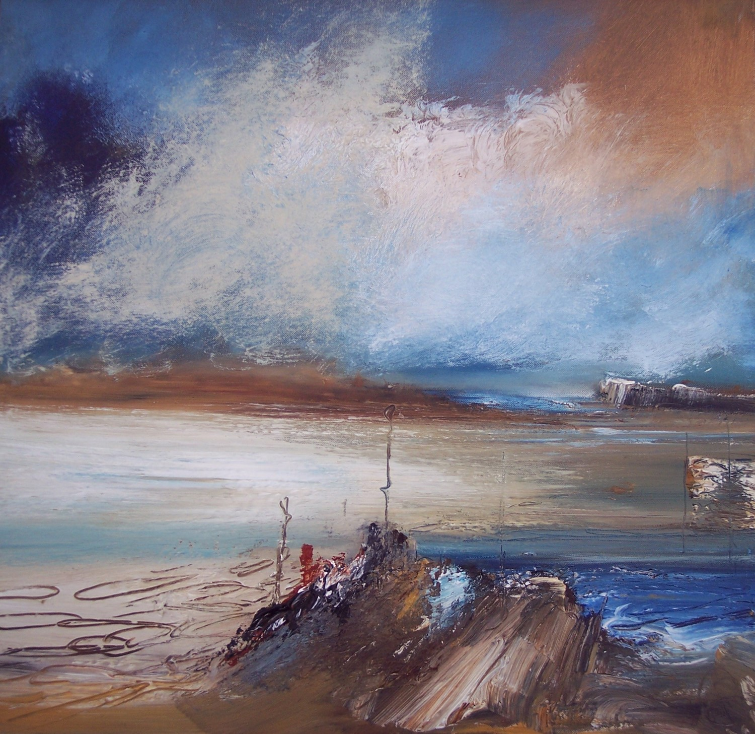 'Blowing a Gale' by artist Rosanne Barr