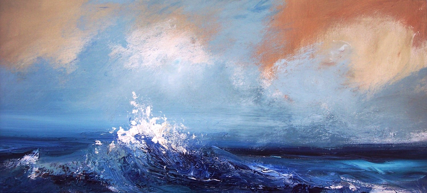 'Turbulent Waters' by artist Rosanne Barr