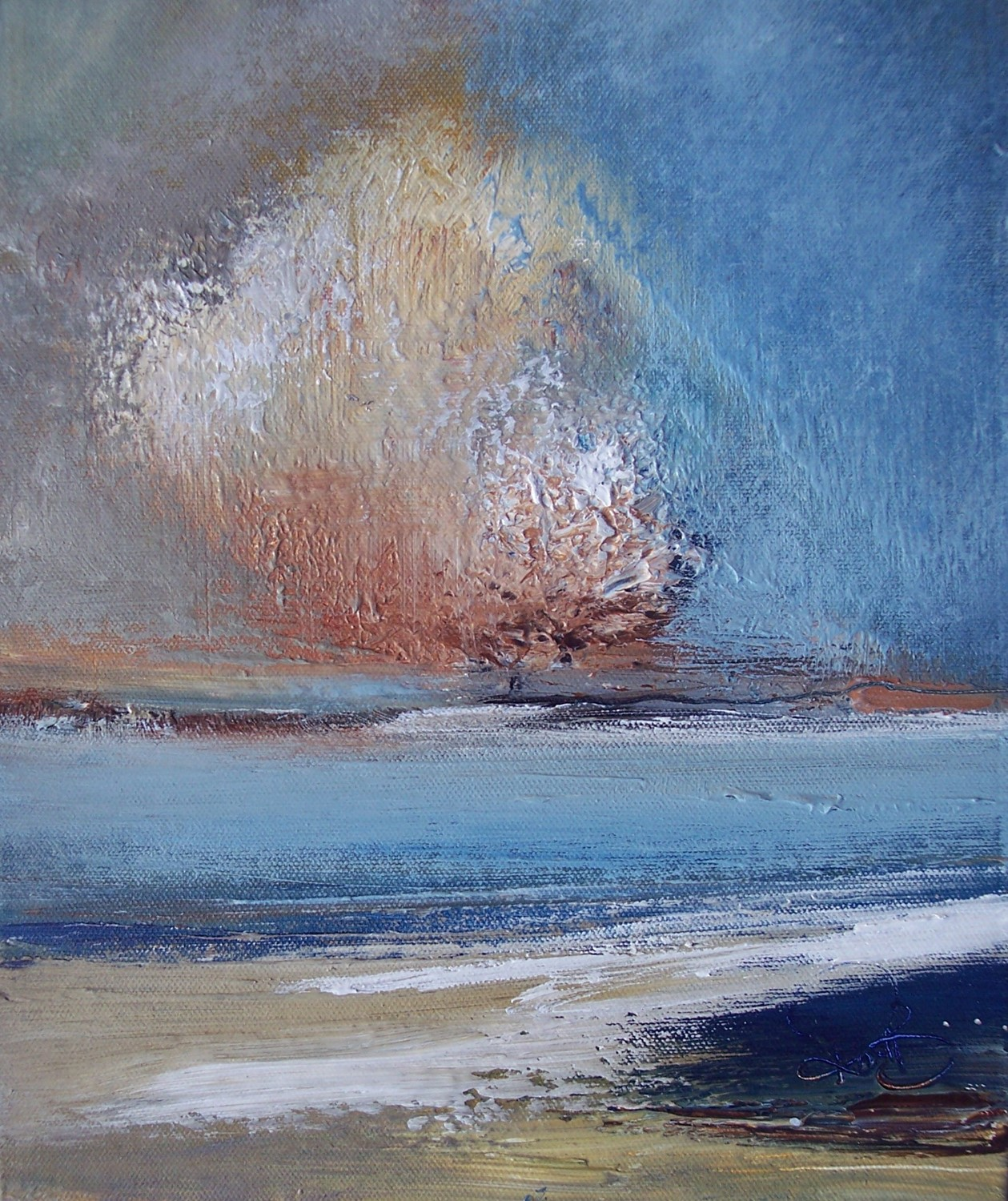 'Shores of Blue' by artist Rosanne Barr