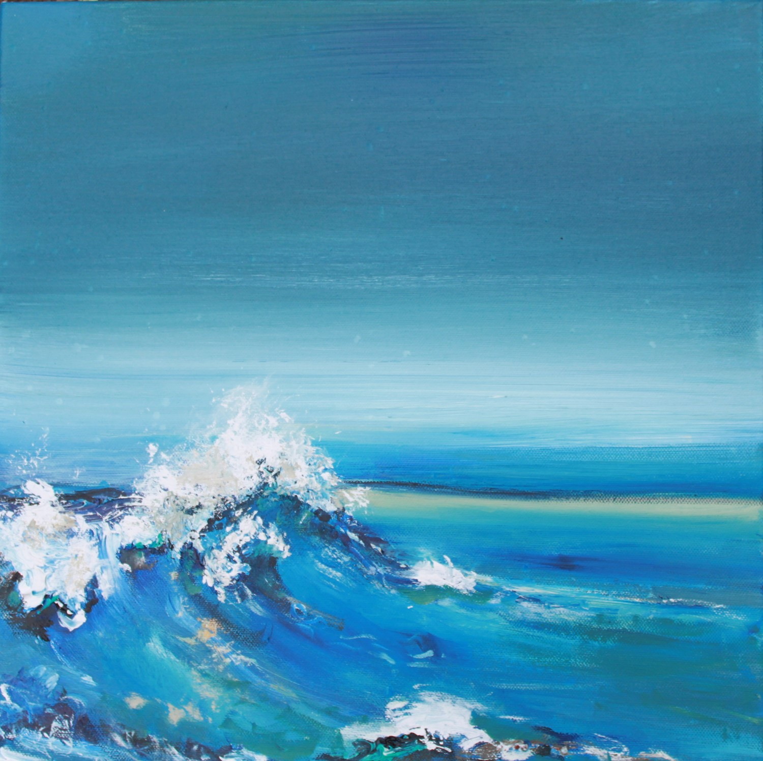 'Counting waves' by artist Rosanne Barr