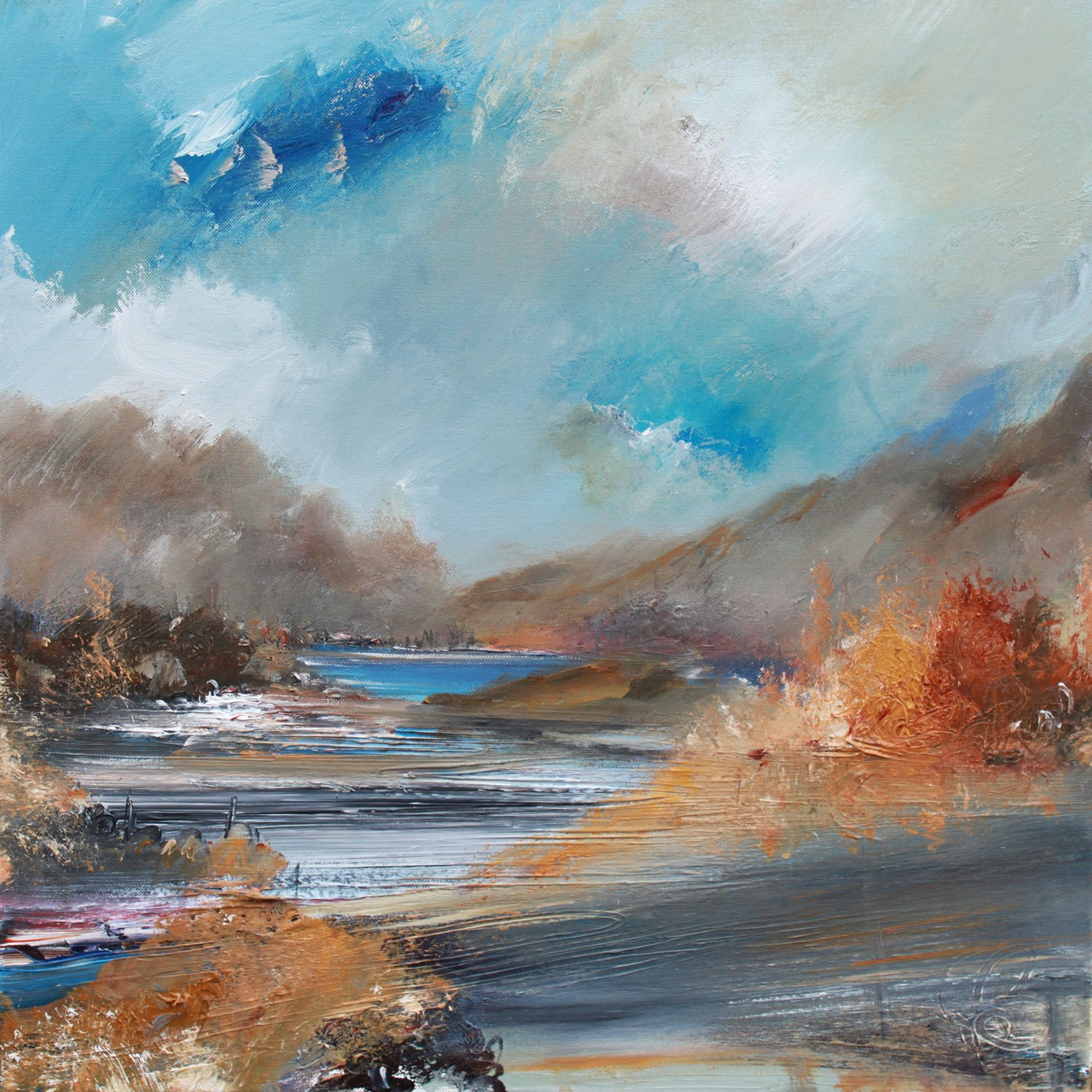 'Autumn at the River' by artist Rosanne Barr