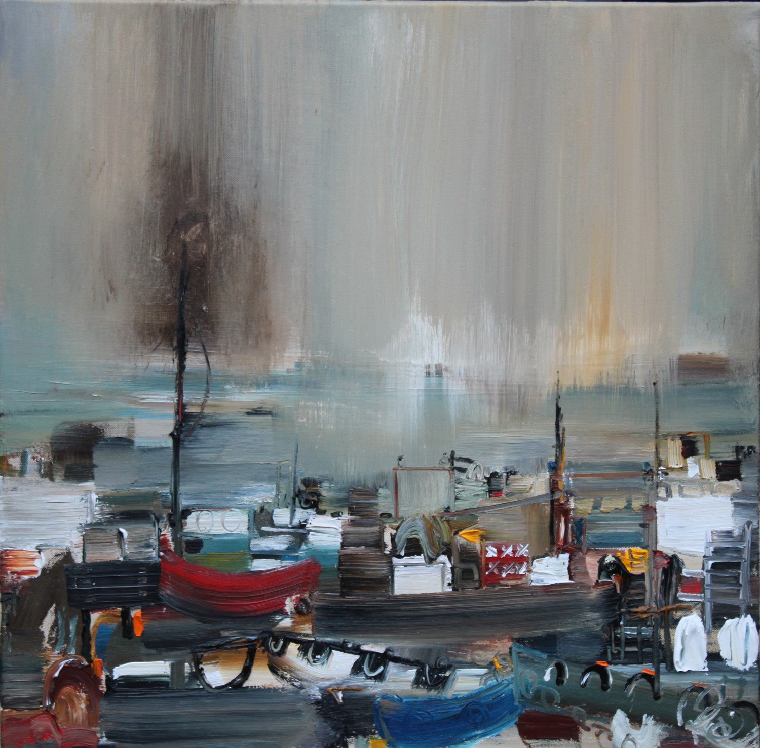 'Bustling with Boats' by artist Rosanne Barr