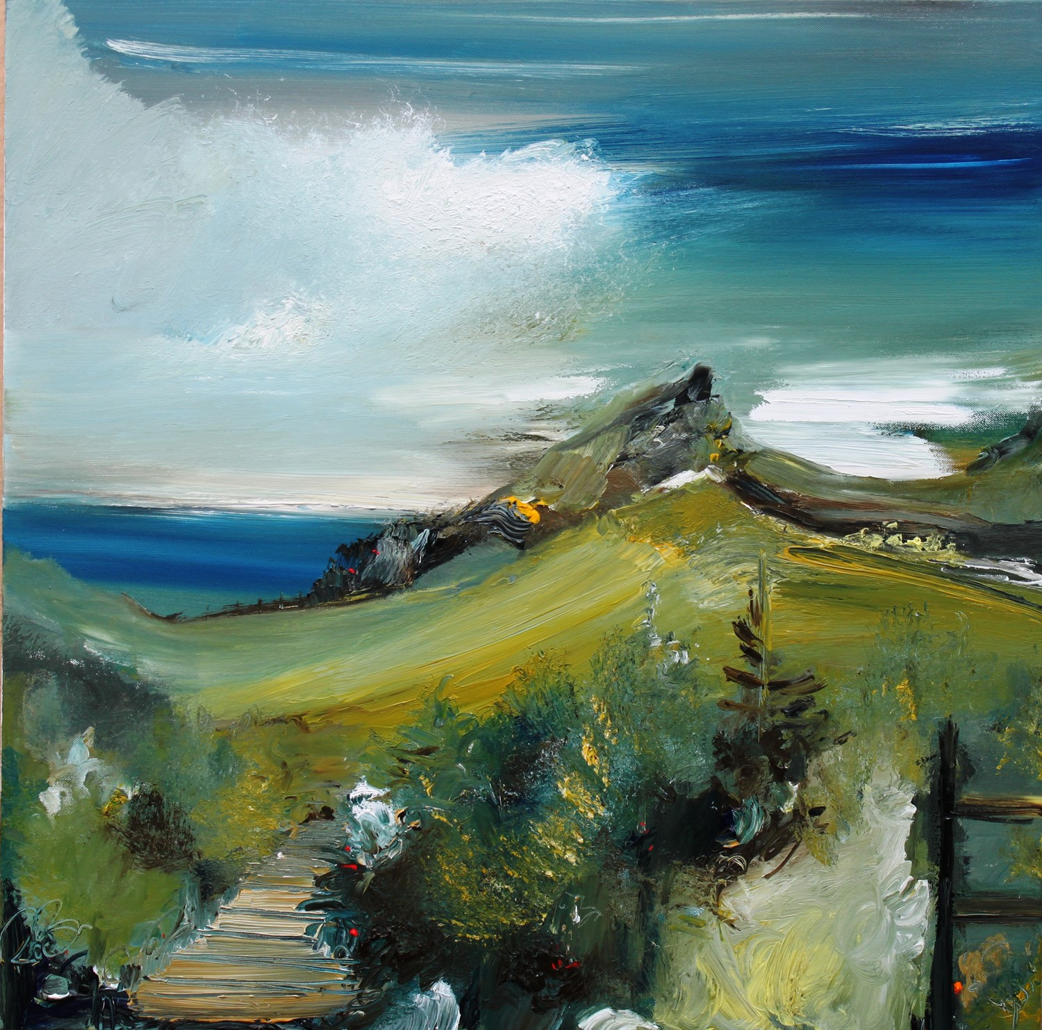 'Summer Hiking' by artist Rosanne Barr