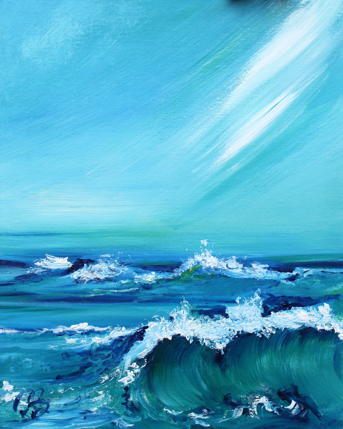 'Crest of a Wave' by artist Rosanne Barr