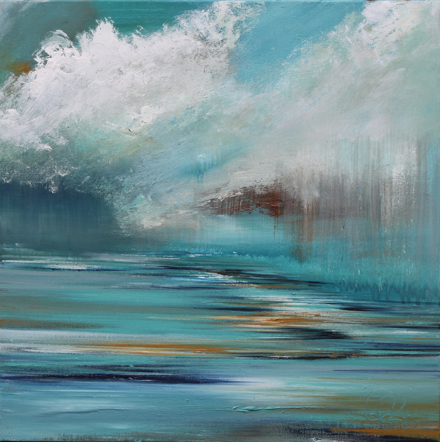 'Down Pour Heading' by artist Rosanne Barr