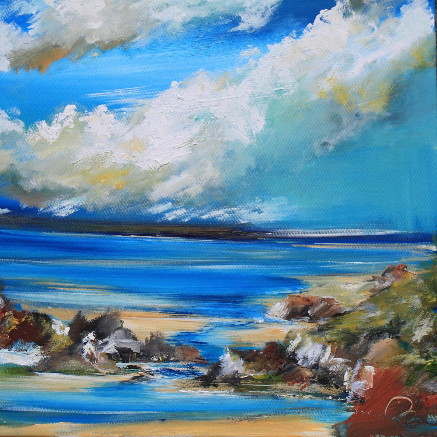 'Summer at the Coast' by artist Rosanne Barr