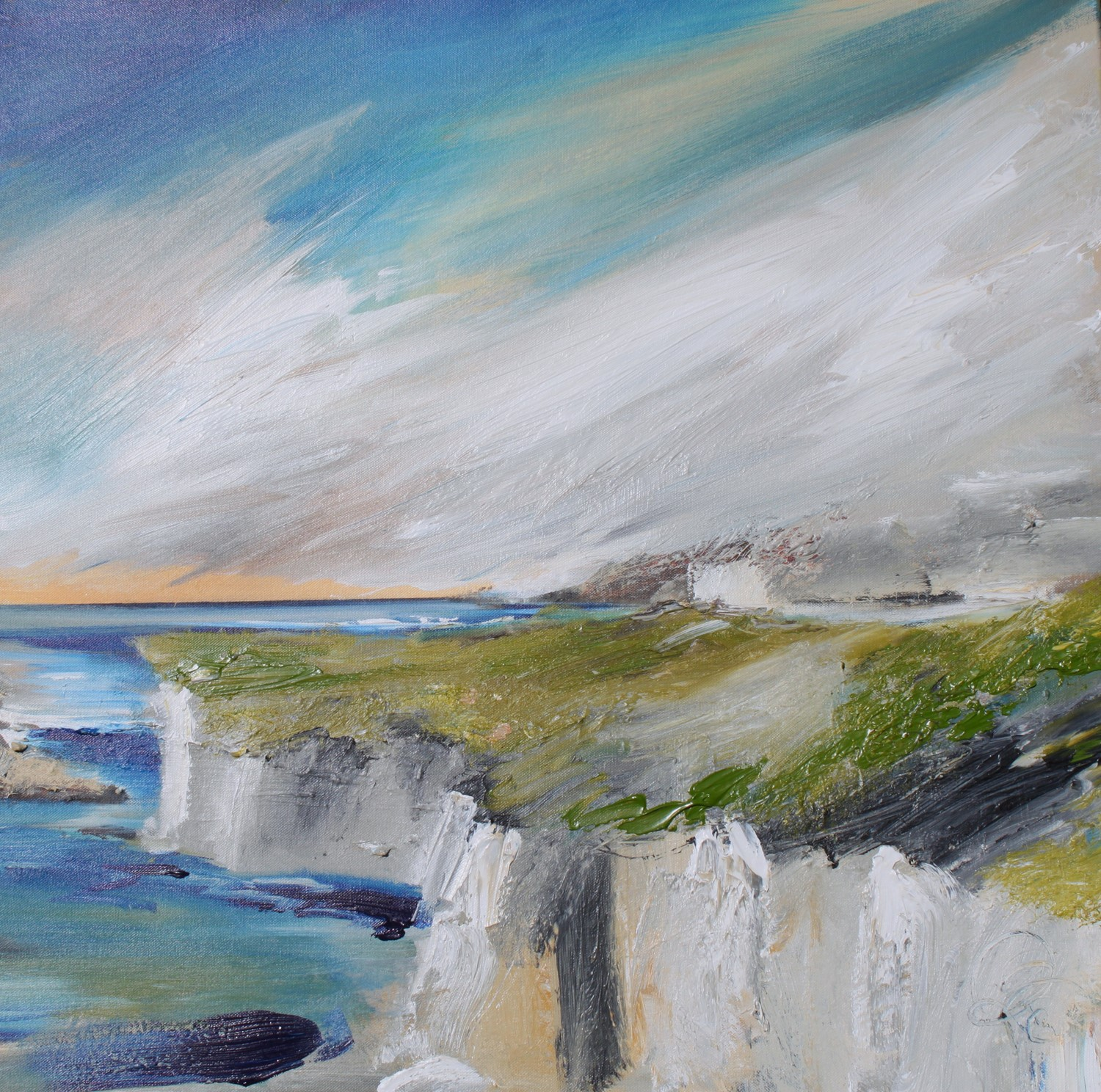 'Blustery at the Cliffs' by artist Rosanne Barr