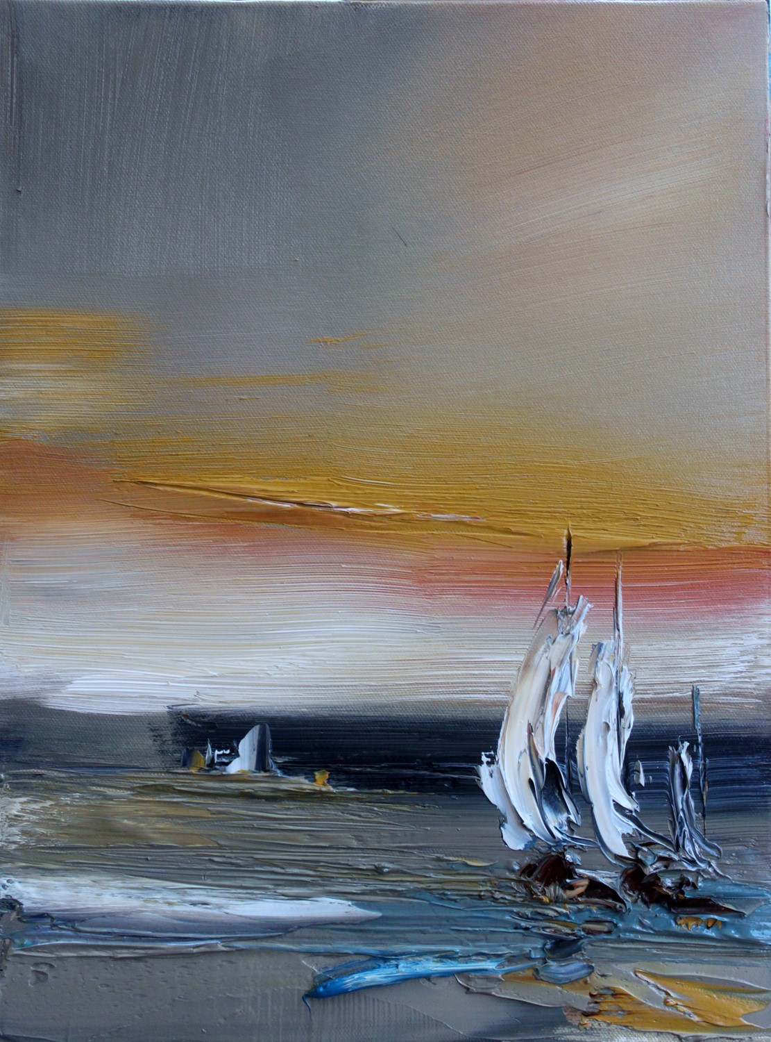 'Evening Yachts' by artist Rosanne Barr