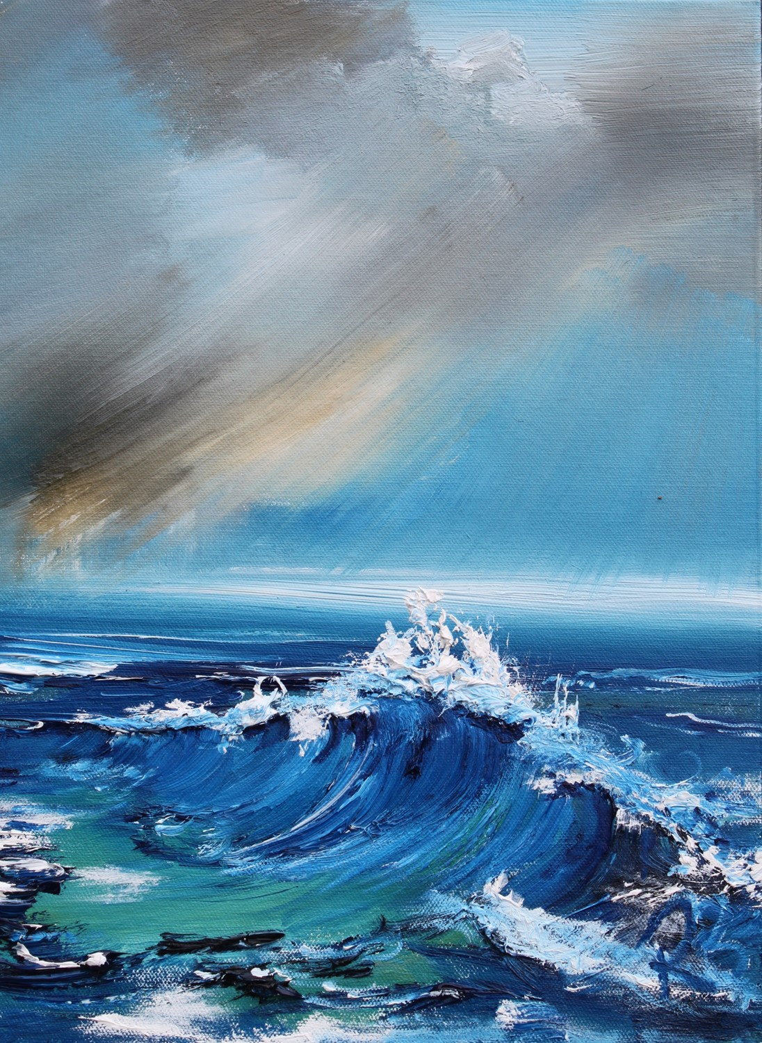 'Racing Waves' by artist Rosanne Barr