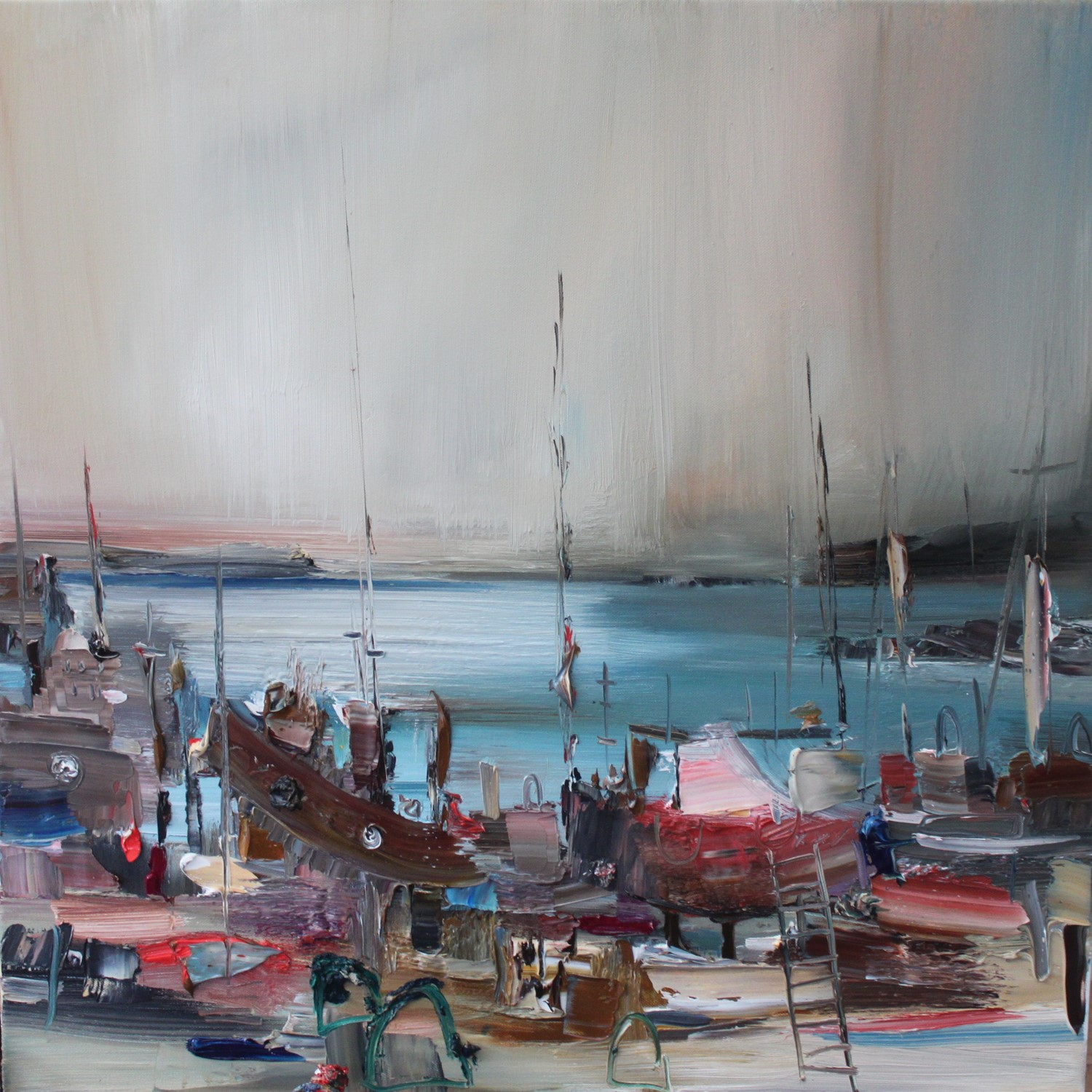 'A shamble of Boats' by artist Rosanne Barr