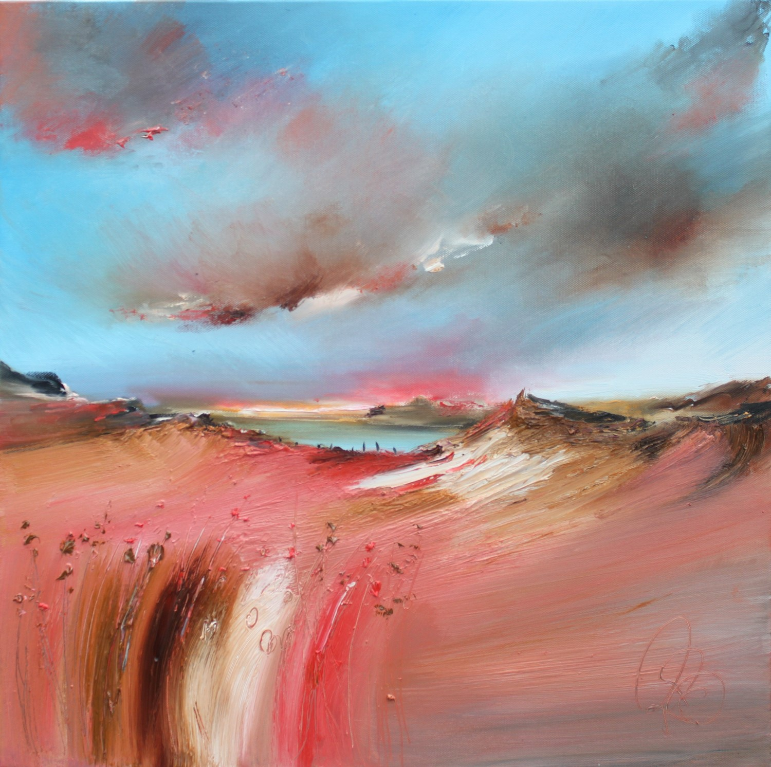 'Leaving the Coast Behind' by artist Rosanne Barr