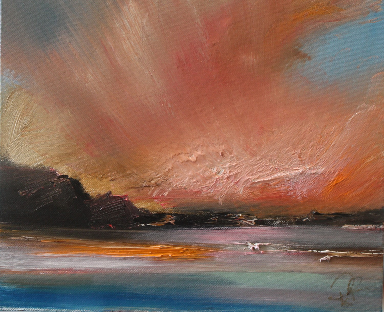 'Isles at sunset' by artist Rosanne Barr