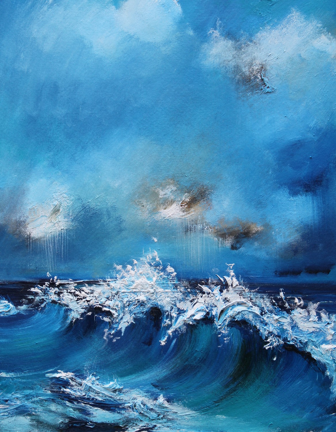 'Tumbling waves' by artist Rosanne Barr