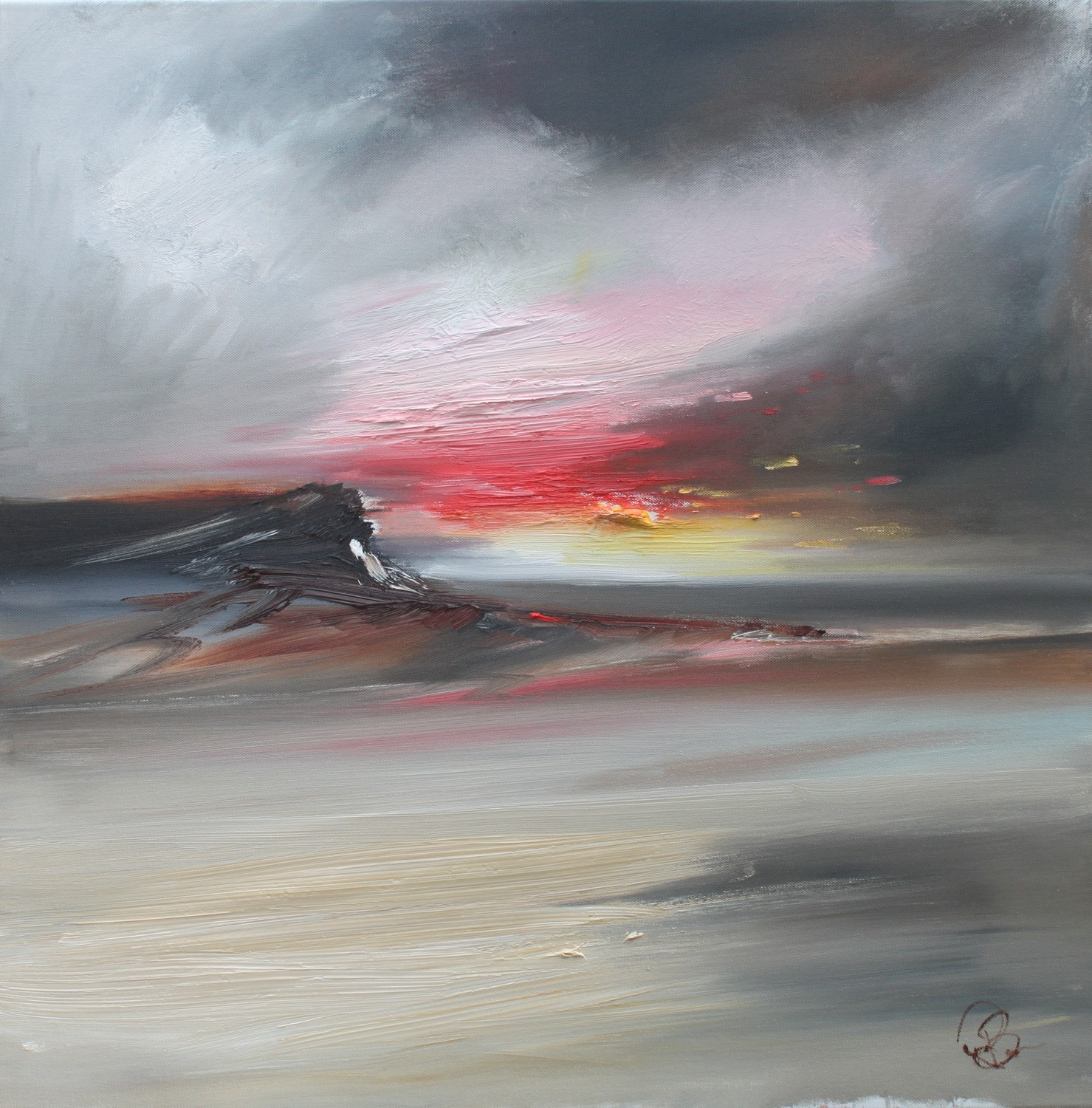 'Sunset to remember' by artist Rosanne Barr
