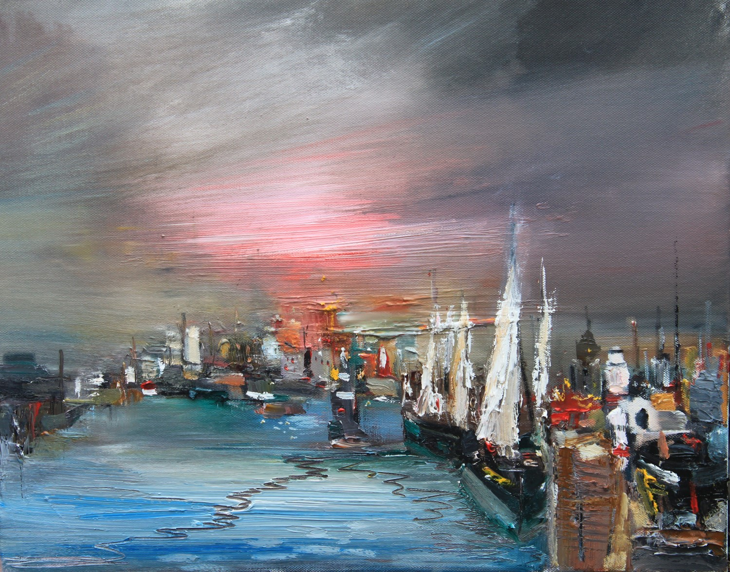 'Night at the Harbour' by artist Rosanne Barr