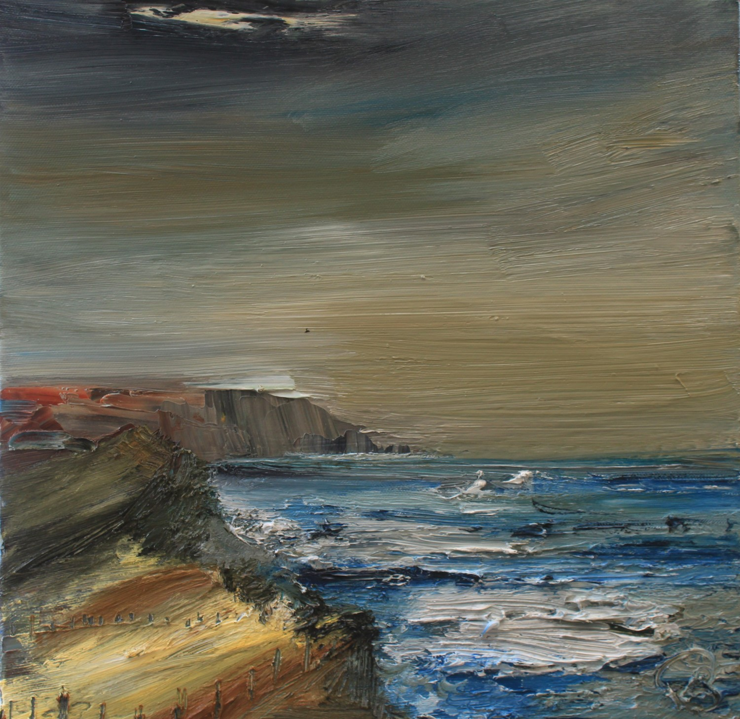 'The Cliffs of Orkney' by artist Rosanne Barr