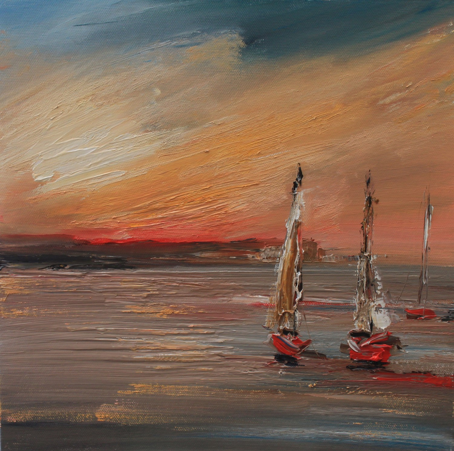 'Sails at Sunset' by artist Rosanne Barr
