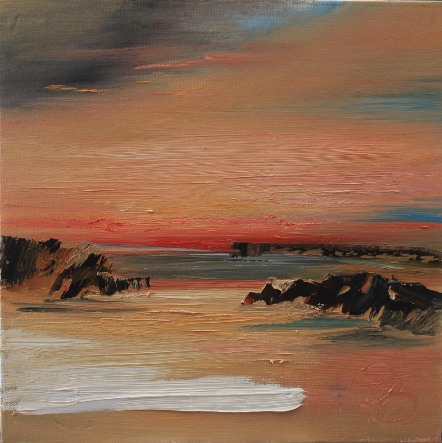 'Sunset on the Cove' by artist Rosanne Barr