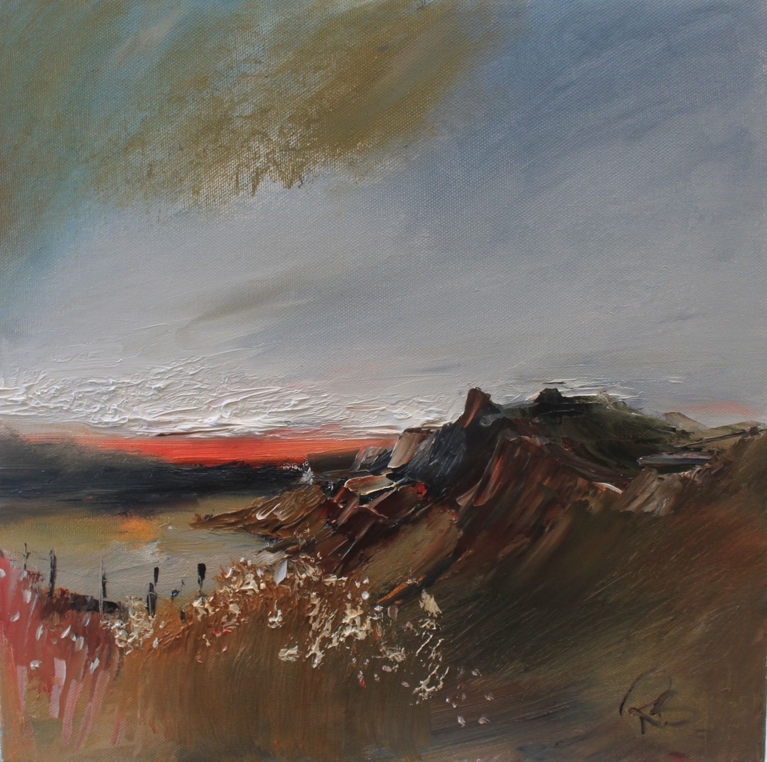 'The Glen at Sunset' by artist Rosanne Barr