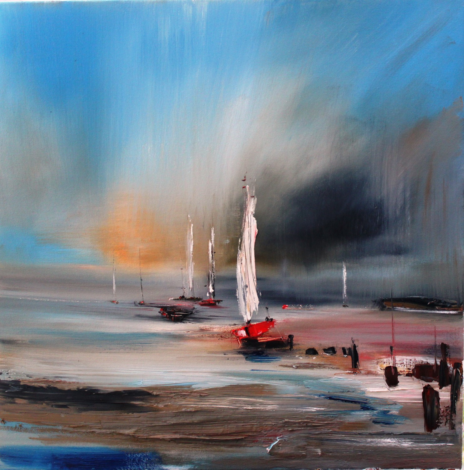 'Fleeting Sails' by artist Rosanne Barr