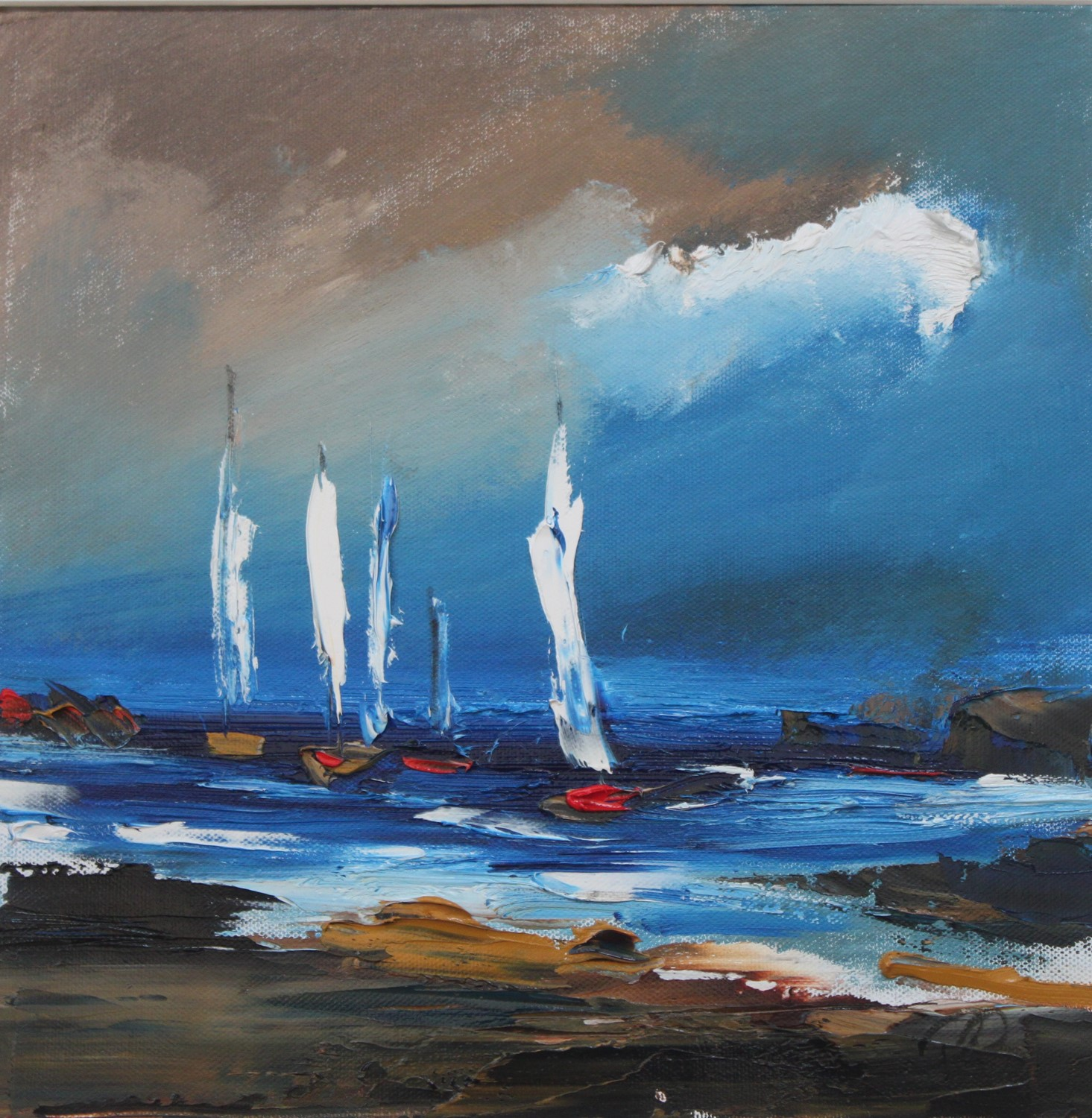 'Atlantic Sails' by artist Rosanne Barr